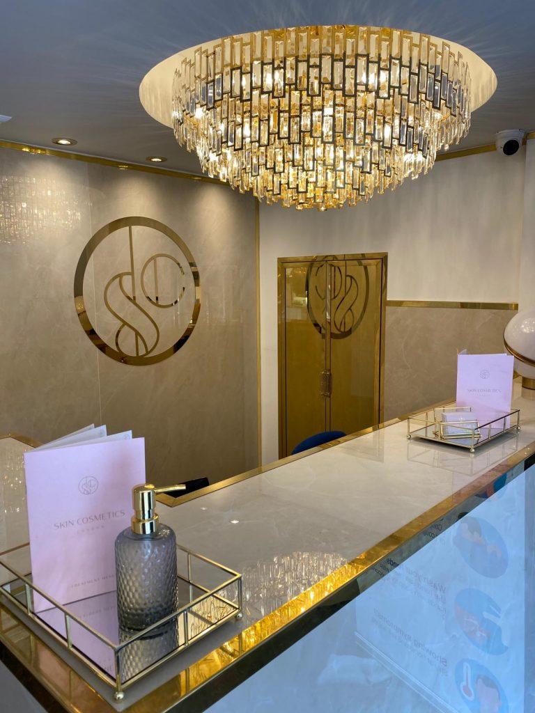 skin cosmetics london skin lounge reception